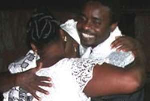 Daasebre`s mother-in-law welcomes her son Dwamena home.